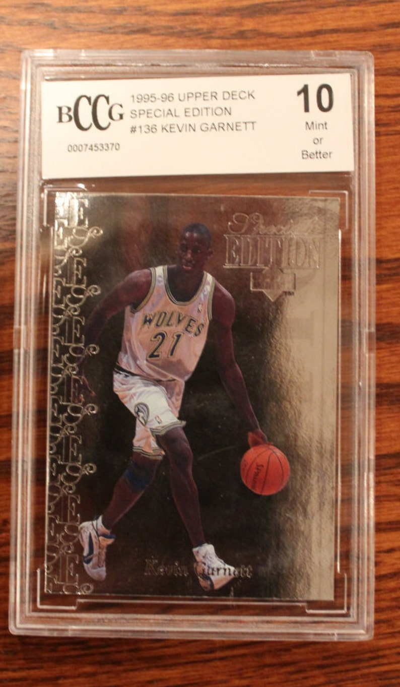 best sneakers 5cb51 0bdeb 1995-96 Upper Deck, Kevin Garnett, Special Edition Card #136, Silver Foil  Card, BCCG Graded 10, Mint or better