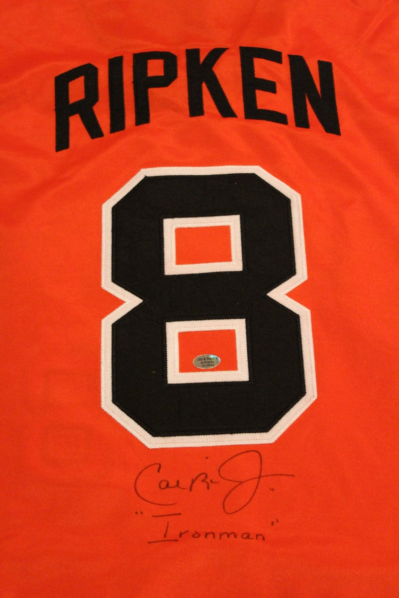8a2d35e7b Cal Ripken Jr. Signed Baltimore Orioles Jersey 8 Ironman   Etsy