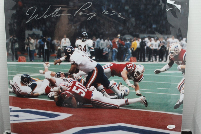 8d4eb3265 Vintage William Perry signed Chicago Bears Touchdown Photo 16