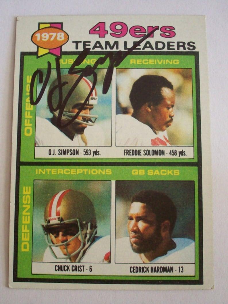 78d571f83d1 1979 OJ Simpson Autographed TOPPS 38 Football Card   Etsy