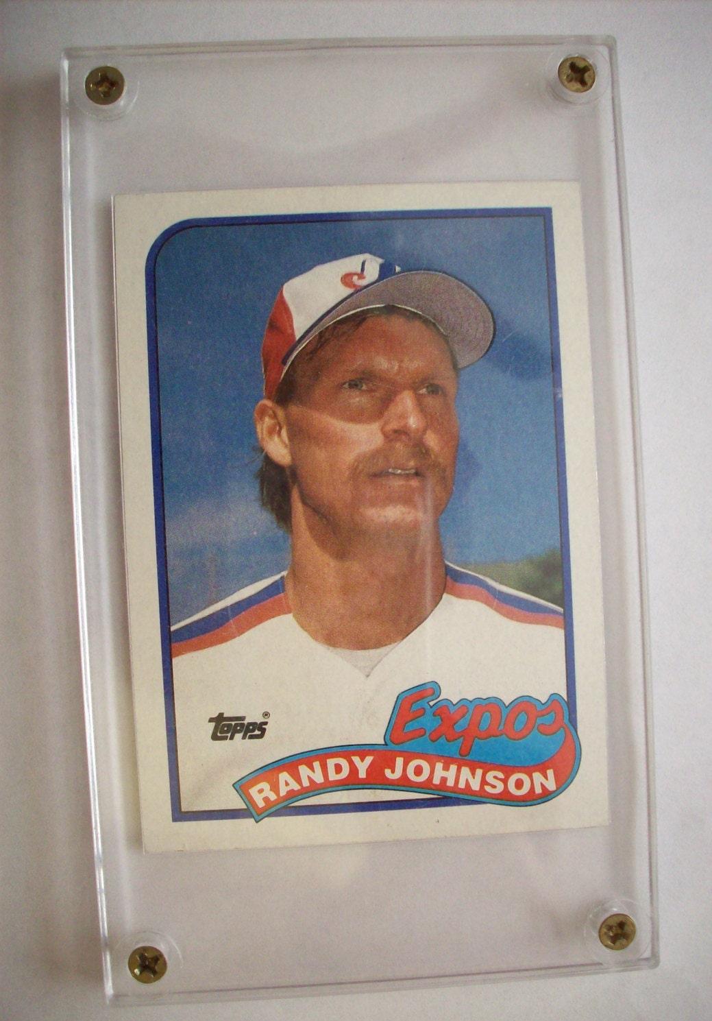 Randy Johnson Encased 1989 Topps Rookie Card Card 647 Not Graded Expos Pitcher Nice Condition Baseball Card Baseball Memorabilia