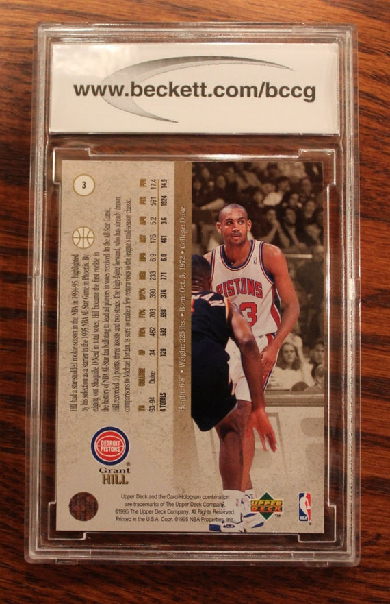 1994 95 Upper Deck Grant Hill Special Edition Card 3 Silver Foil Card Bccg Graded 10 Mint Or Better