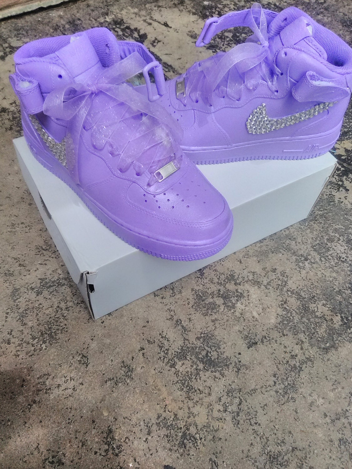 Bling Nike Air Force Ones e6640ef24