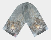 "Scarf ""Tiger in Wate..."
