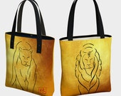 Lions Tote Art by Debbie ...