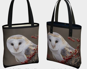 Rescued Barn Owl (B) - Photo and Design by Debbie Lim