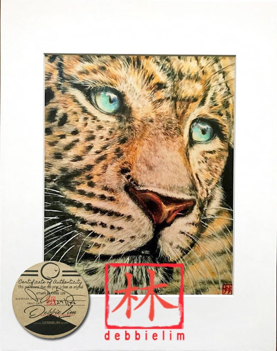 "Feng Shui Original""White Tiger"" **11x14 Total Size"