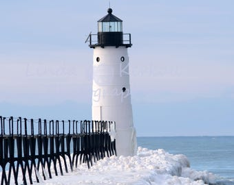 Photograph of Lighthouse In Manistee Michigan from the Pier