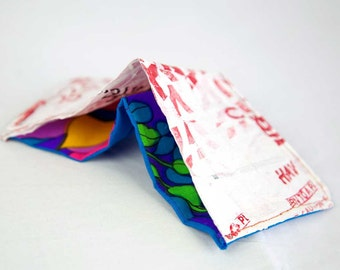 Upcycled Fused Plastic Bag Wallet