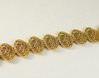Large Chunky Gold Bracelet Vintage Bracelet Vintage Jewelry Statement Jewelry
