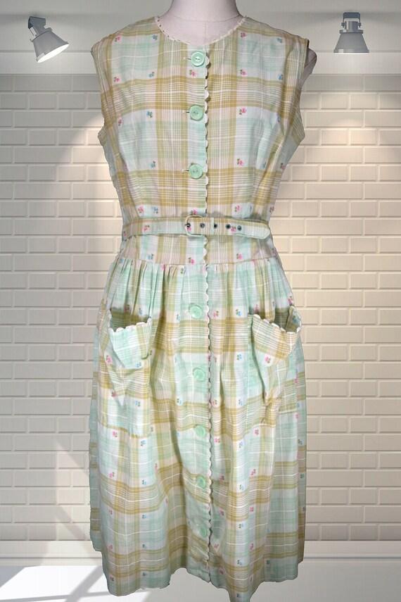 UNWORN Vintage 1950s Summer Plaid Check Shirt Day