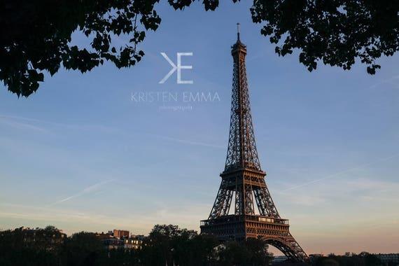 Eiffel At Sunset Paris France Eiffel Tower French Landmarks Paris France Sunset La Seine France European Landscapes Cityscape