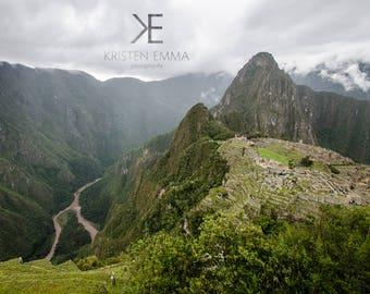 Urubamba River and Machu Picchu   Aguas Calientes, Peru ~ Foggy, ancient, Inca Ruins, Peruvian history, culture, World Wonder, Huayna Picchu