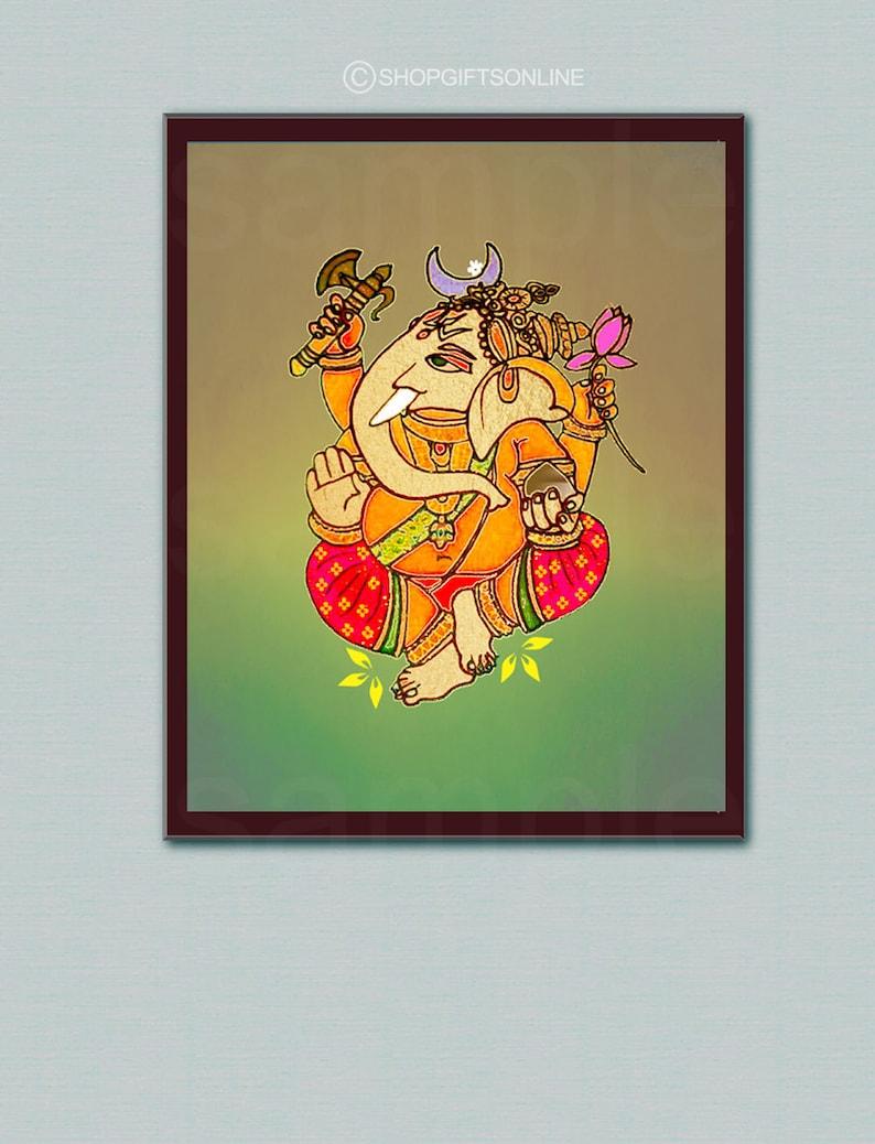 Ganesh art printhome decorganesha wall art lord ganesh 8x10 ganpati diwali print instant digital download