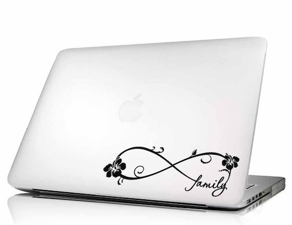 Hibiscus Family Forever Infinity Symbol For Laptops Macbooks Etsy