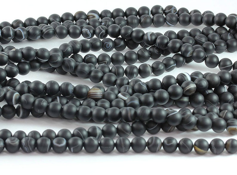 """wholesale length size 14 /"""" White agate stone 6-8-10mm round beads"""