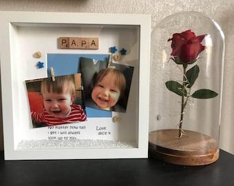Personalised Grandad/Papa Box Frame