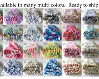Pink Baby Blanket, Crochet Baby Blanket, Car Seat Blanket, Blue Baby Blanket, Baby Girl Blanket, Bernat, Handmade Blanket, Free Shipping