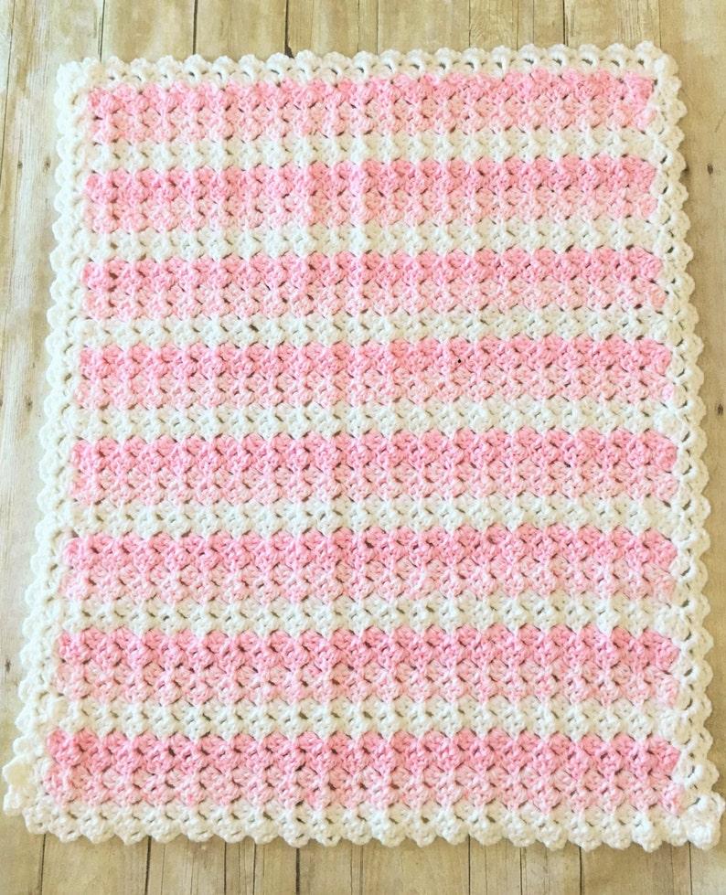 Crochet Blanket Pink Baby Blanket Chunky Blanket Baby Blanket Double Thick Crochet Baby Blanket Baby Girl Blanket Ready to Ship