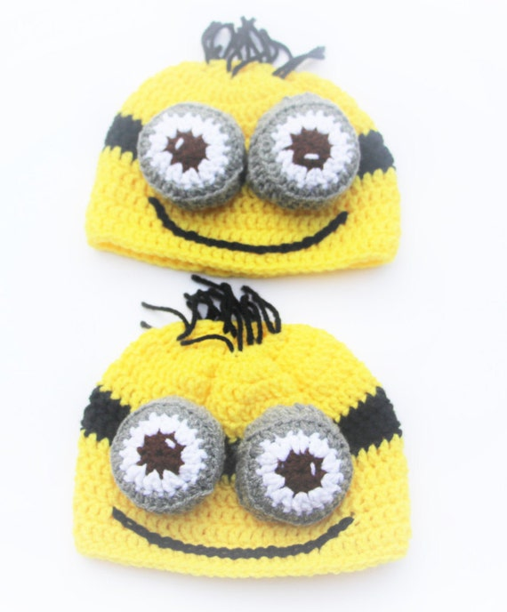 38289778f6061 Minion Crochet Hat Despicable Me Hat Baby Boy Hat Baby