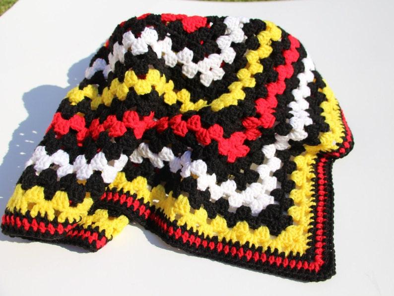 Mickey Mouse Blanket Crochet Baby Blanket Handmade Blanket Etsy