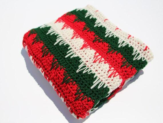 Christmas Afghan Crochet Throw Holiday Afghan Crochet Etsy