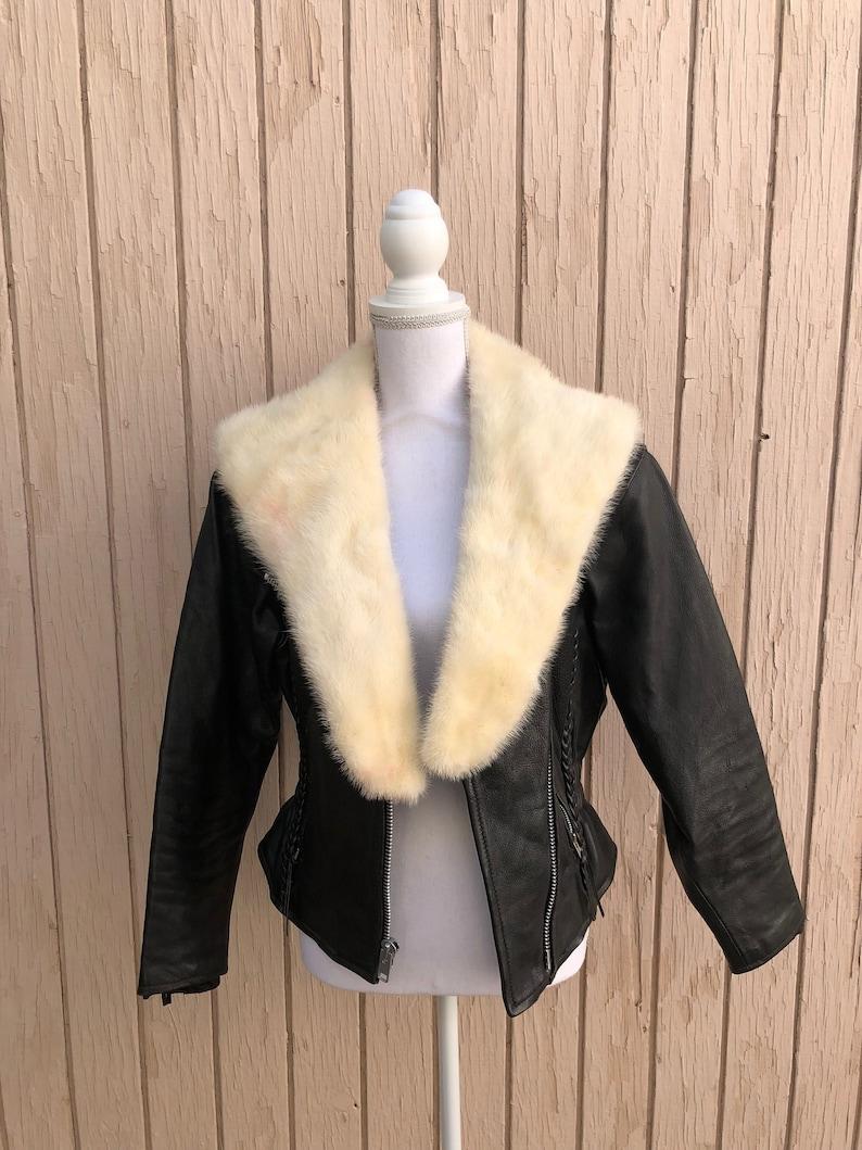 Cream Fur Stole  Real Fur image 0