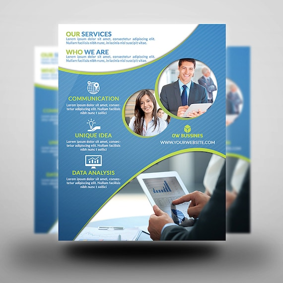 Printable Corporate Flyer Flyer Template Flyer Editable Etsy
