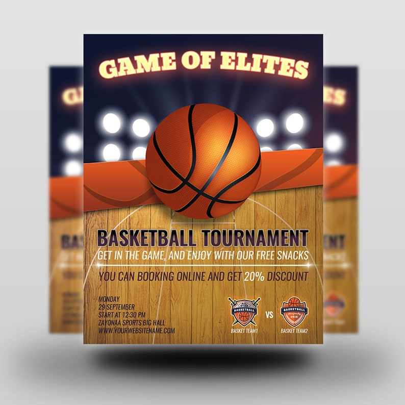 picture about Printable Basketball Pictures called Printable Basketball Flyer Template Flyer Template Flyer Editable Photoshop Template Instantaneous Obtain