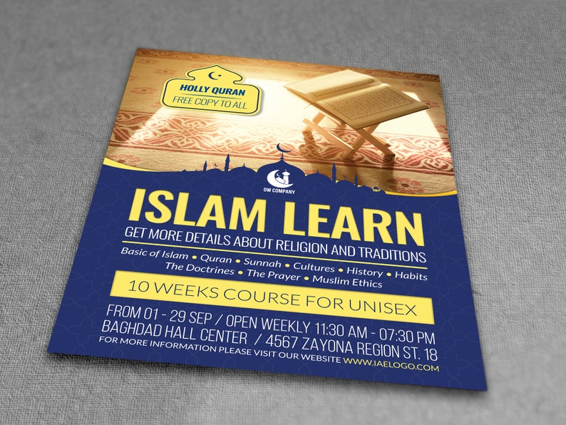 Printable Islamic Poster   Flyer Template   Flyer Editable  Photoshop  Template   Instant Download