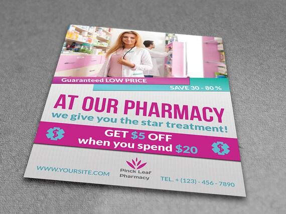 Printable Pharmacy Flyer Flyer Template Flyer Editable Etsy