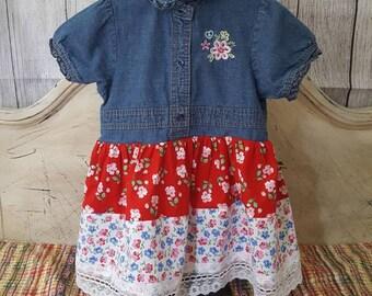 girls denim jean dress summer