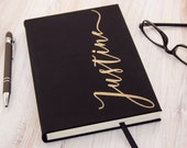 Personalized Journal, Custom Travel Notebook, Personalized Diary, Leatherette Journal, Hardcover Journal