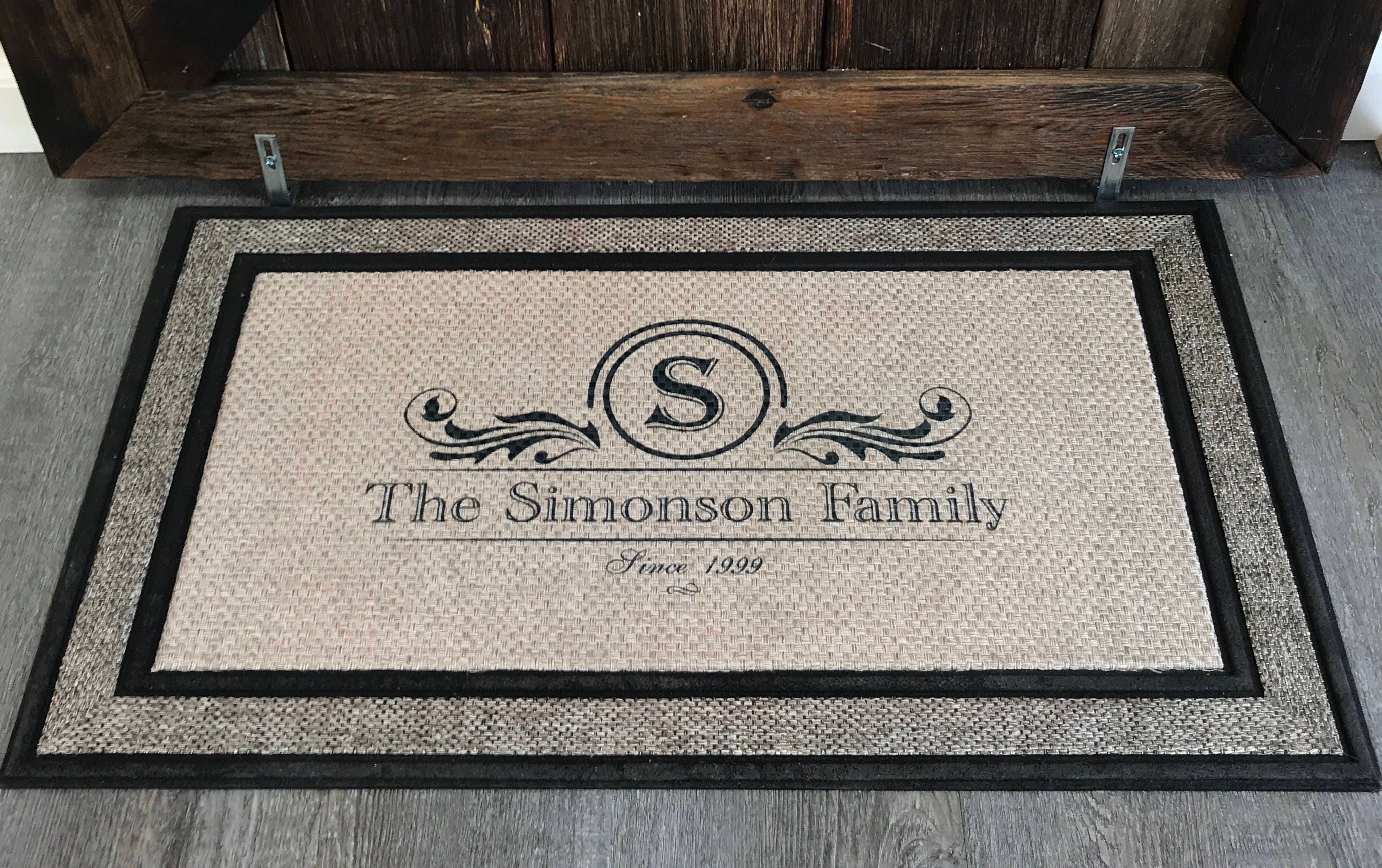 entry over overstock home product welcome on free shipping elegant garden nourison doormat x monogrammed mat orders