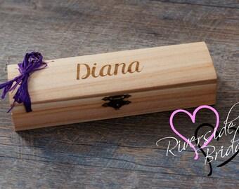 Rustic Jewelry Box, Bridesmaid Gift Box, Jewelry Box, Personalized Engraved Jewelry Box, Wedding Keepsake, Wooden Keepsake Box, flower girl