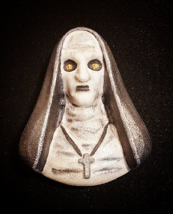 Nun Bath Bomb, Bath Bomb, Halloween Bath Bomb, Horror Bath Bomb, Gothic Bath Bomb, Handmade Bath Bomb, Party Favors, Scary Bath Bomb, Evil by Etsy