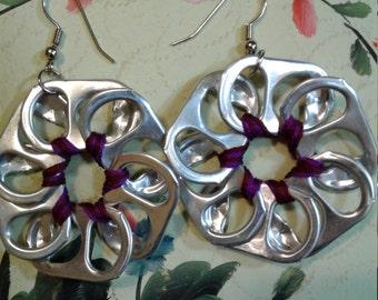 Handmade pop-tab earrings