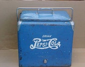 vintage 1950 39 s pepsi cola double dot cooler ice chest picinic cooler camping rv display photo shoot car show display