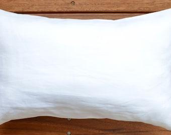 Pure Linen Bolster Pillow Oblong Cushion Cover Throw Decorative pillow Rustic Shabby Chic Decor Linen Cushion Cove gift Ideas