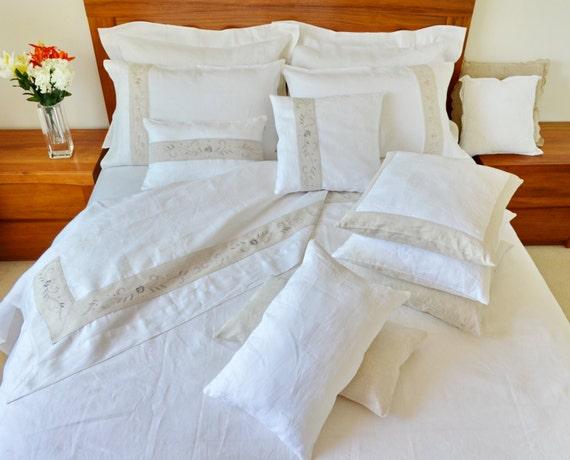 queensize bett makeover flache spannbetttuch kissenbez ge etsy. Black Bedroom Furniture Sets. Home Design Ideas