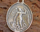 Saint Michael the Archangel Vintage Reproduction in Sterling Silver, AR-465 photo