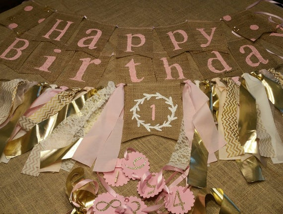 Birthday Package Girl First Decorations 1st