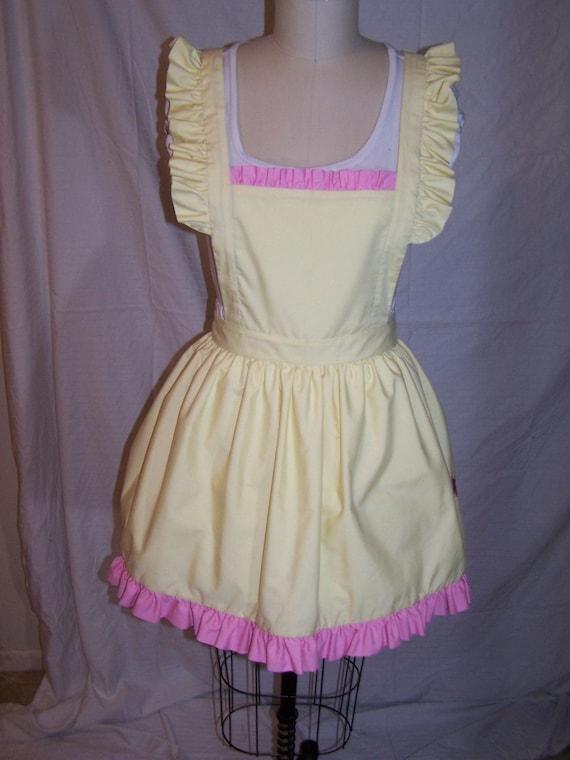 MLP Twilight Sparkle Inspired Gothic Lolita Adult Costume Pinafore Apron w Ruffle Trim