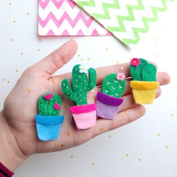 Cactus Magnet Set Gifts Felt Fridge Magnets Cute