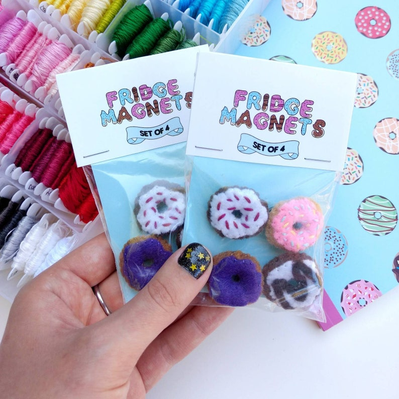 Donut Magnets Doughnut Small Birthday Gifts Cute