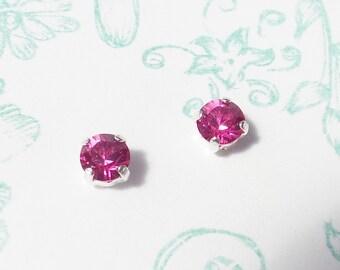 Earrings vintage raspberry drops