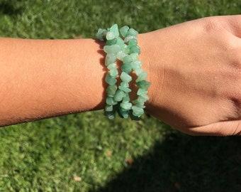 Seafoam Green Stone Bracelets