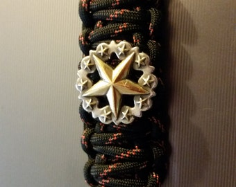 Star Concho Paracord Keychain