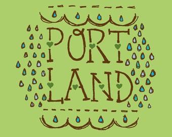 Portland Raindrops - 5x5 Art Print