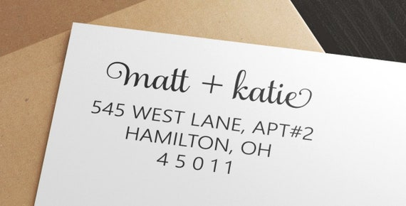 Personalized Couple Return Address Stamp Custom